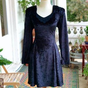 Vintage 90s Jamie Brooke Crushed Velvet Mini Dress